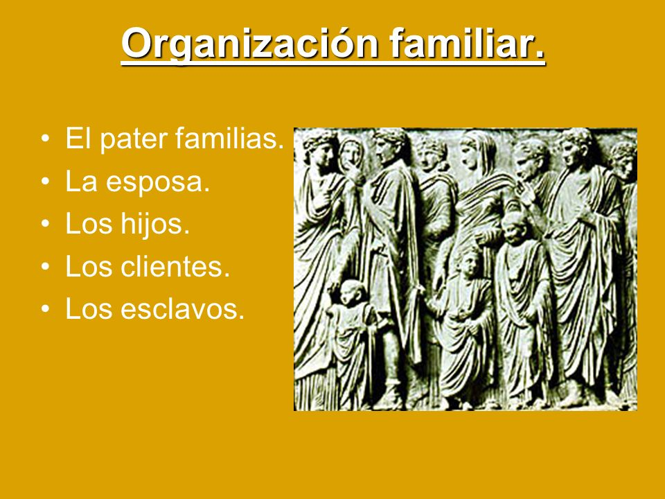 Organización familiar.