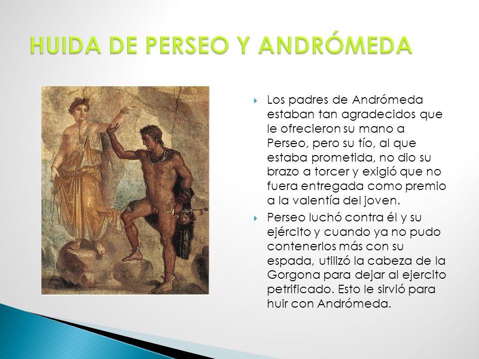 HUIDA DE PERSEO Y ANDRÓMEDA