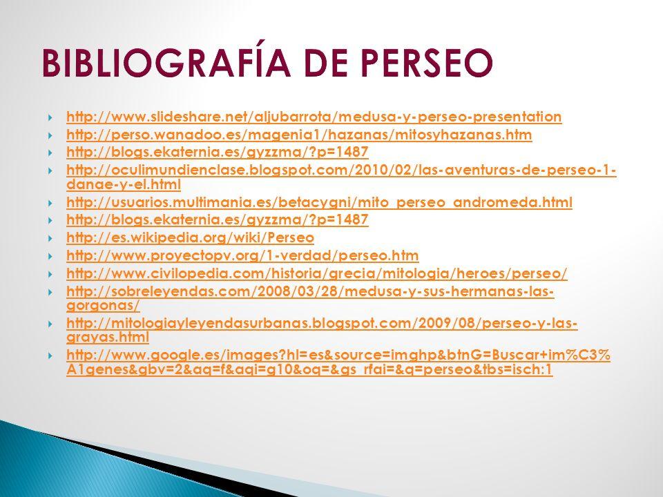 BIBLIOGRAFÍA DE PERSEO