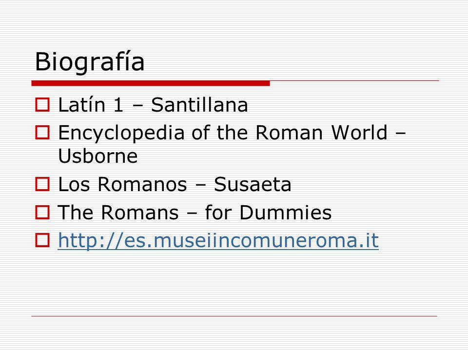 Biografía Latín 1 – Santillana