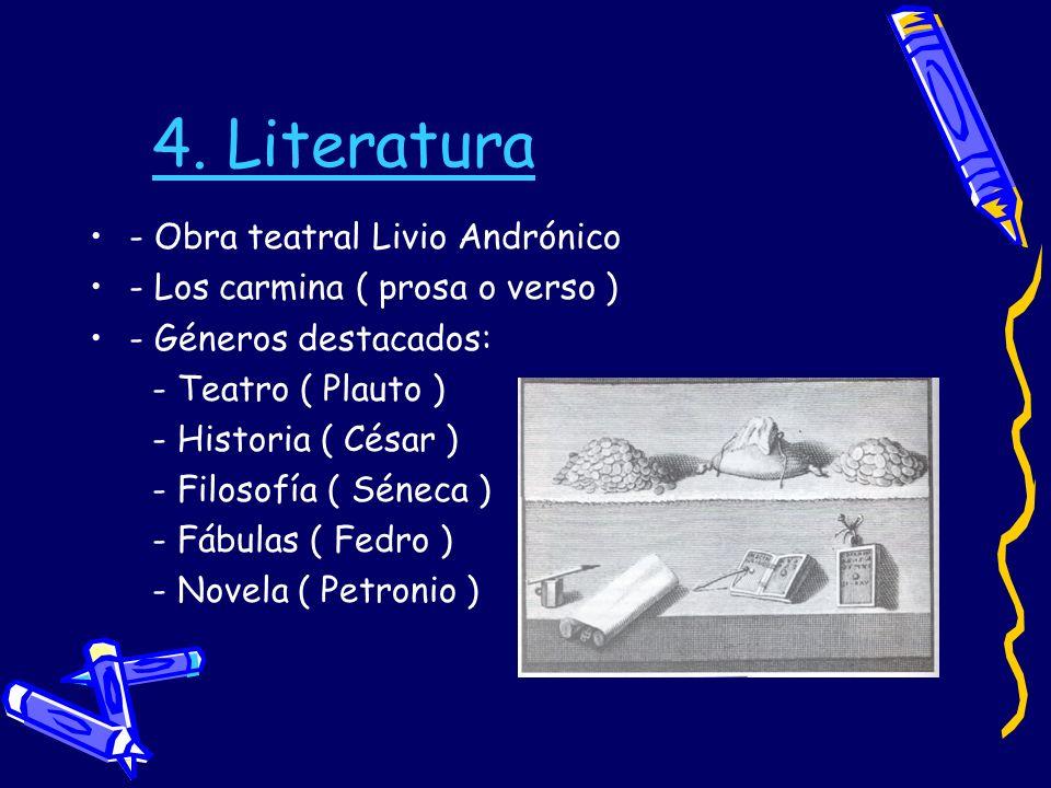 4. Literatura - Obra teatral Livio Andrónico