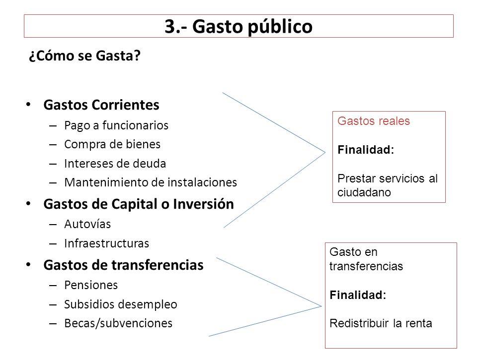 3.- Gasto público ¿Cómo se Gasta Gastos Corrientes