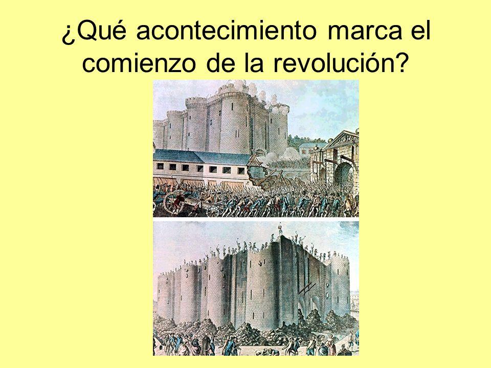 ¿Qué acontecimiento marca el comienzo de la revolución