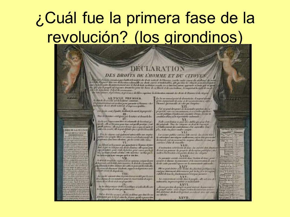 ¿Cuál fue la primera fase de la revolución (los girondinos)