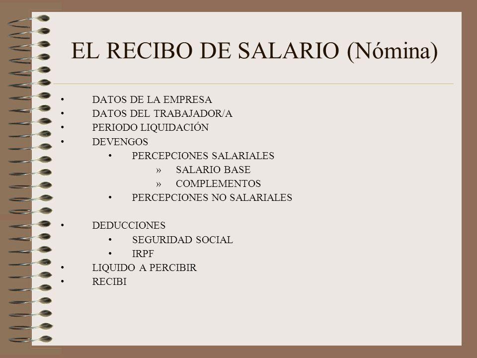 EL RECIBO DE SALARIO (Nómina)