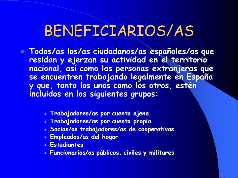 BENEFICIARIOS/AS