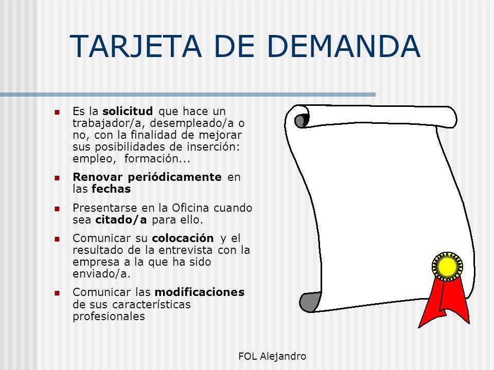 TARJETA DE DEMANDA