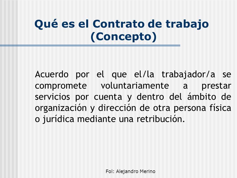 Qué es el Contrato de trabajo (Concepto)