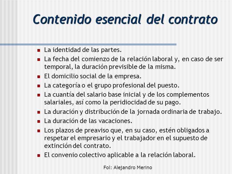 Contenido esencial del contrato