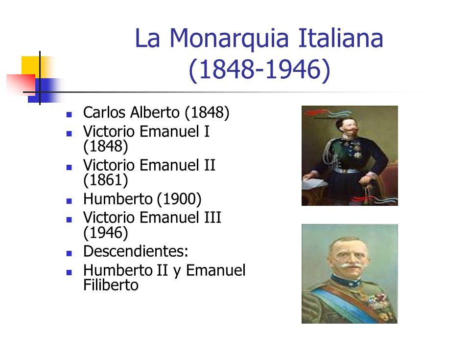 La Monarquia Italiana (1848-1946)
