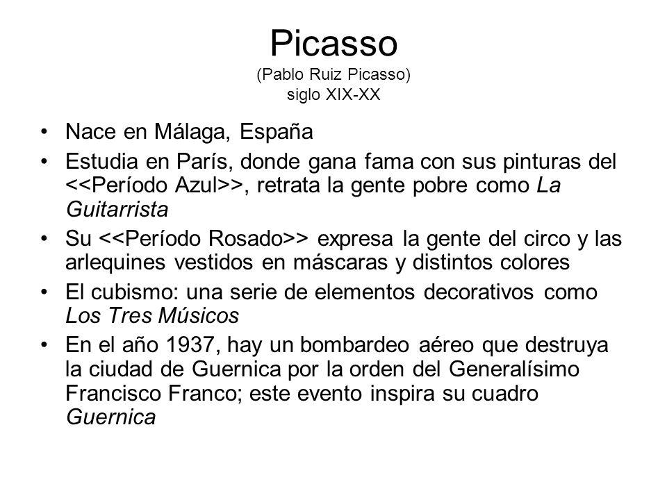 Picasso (Pablo Ruiz Picasso) siglo XIX-XX