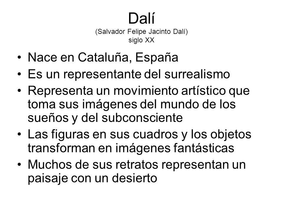 Dalí (Salvador Felipe Jacinto Dalí) siglo XX