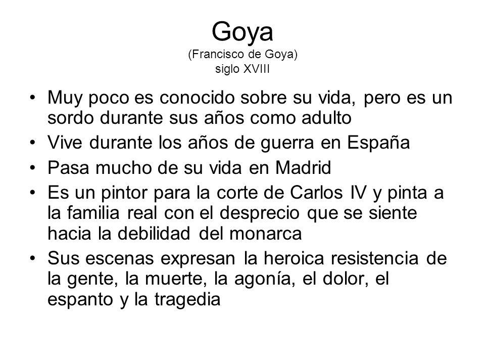 Goya (Francisco de Goya) siglo XVIII