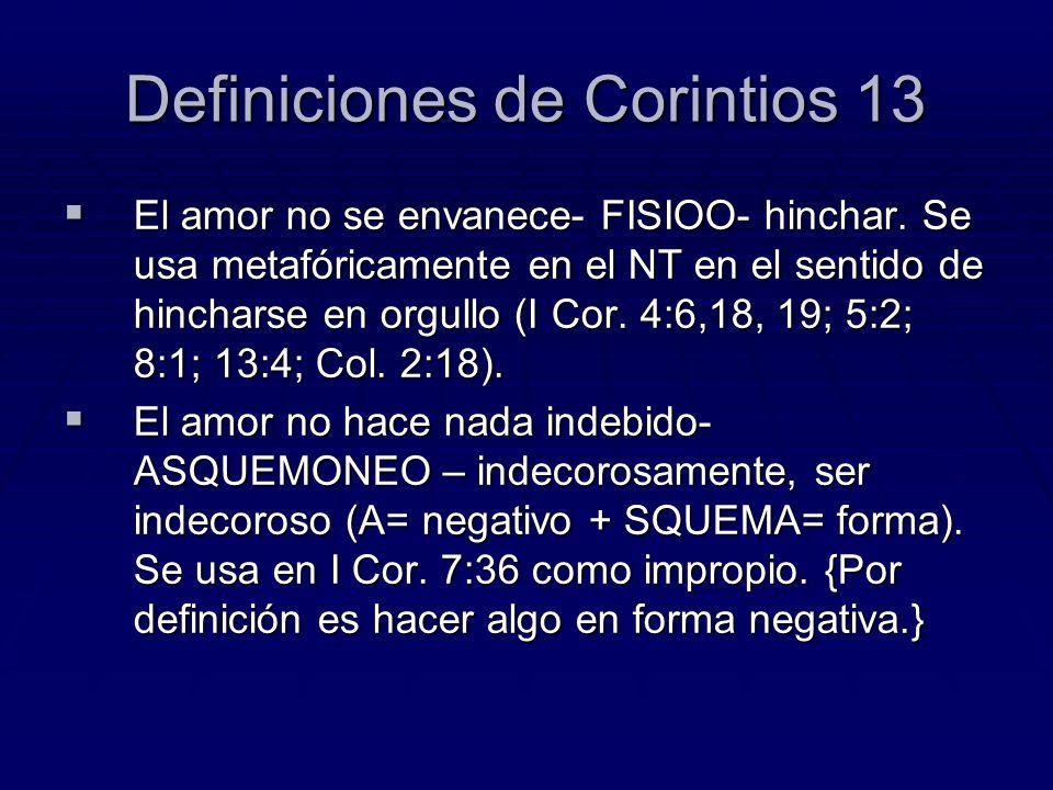 Definiciones de Corintios 13