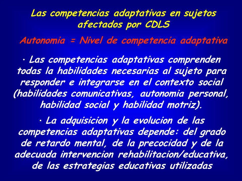 Las competencias adaptativas en sujetos afectados por CDLS