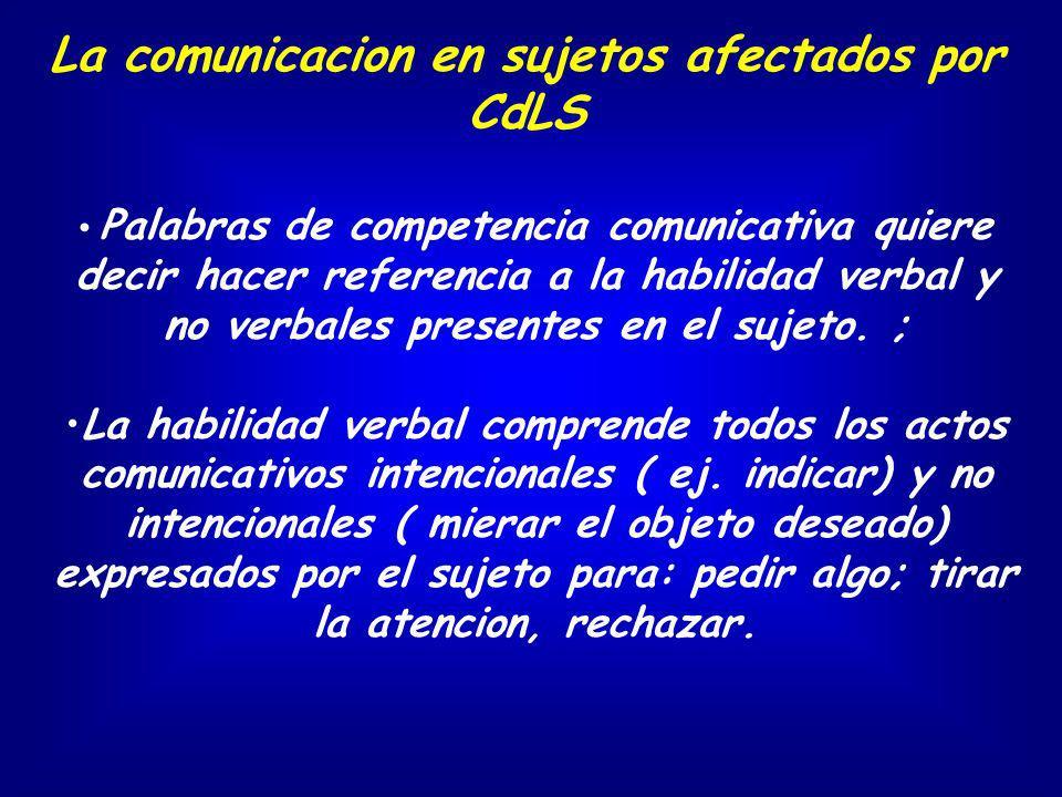 La comunicacion en sujetos afectados por CdLS