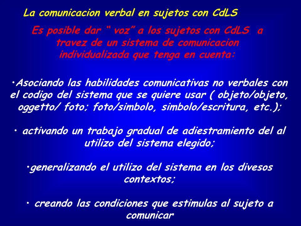 La comunicacion verbal en sujetos con CdLS