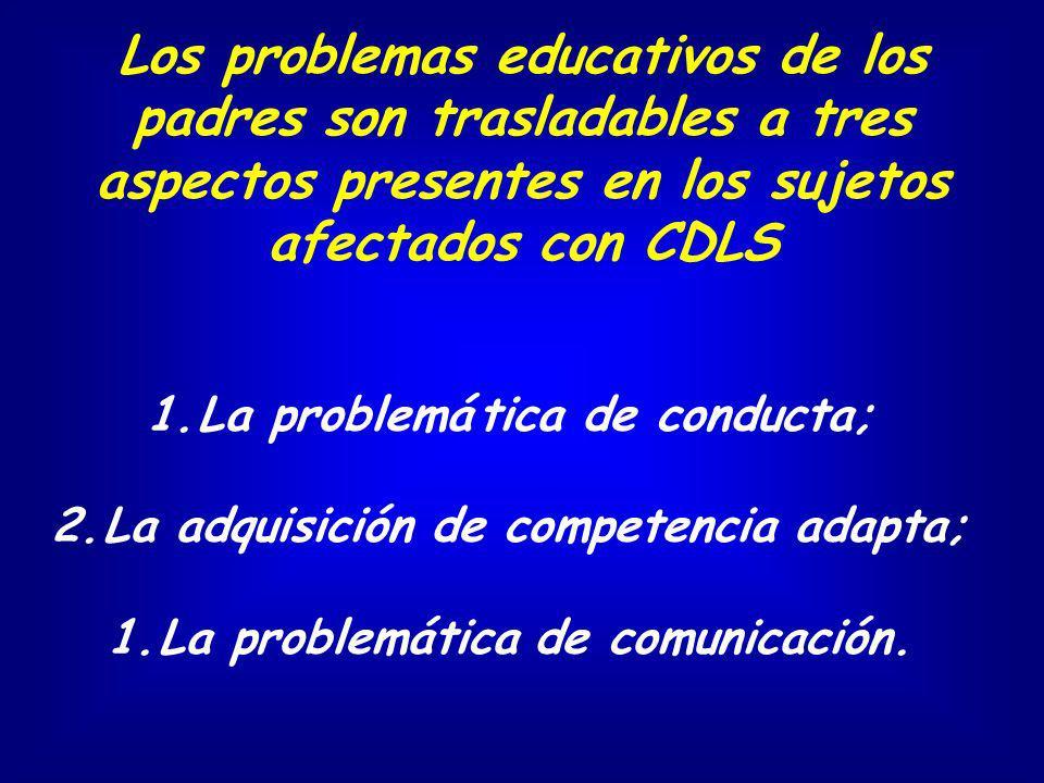 La adquisición de competencia adapta; La problemática de comunicación.
