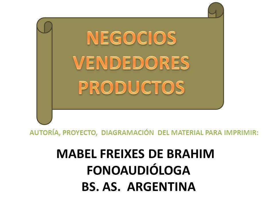 NEGOCIOS VENDEDORES PRODUCTOS