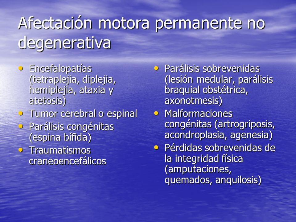 Afectación motora permanente no degenerativa