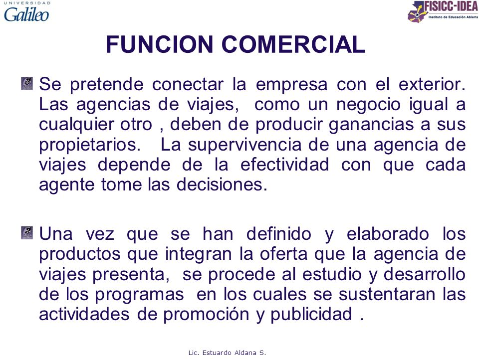 FUNCION COMERCIAL