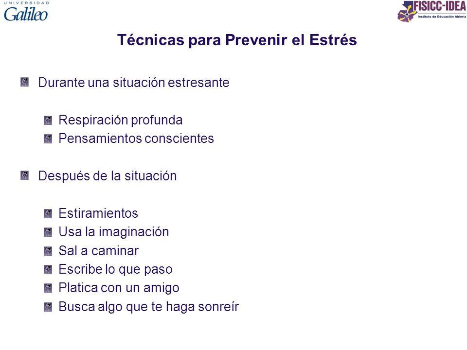 Técnicas para Prevenir el Estrés