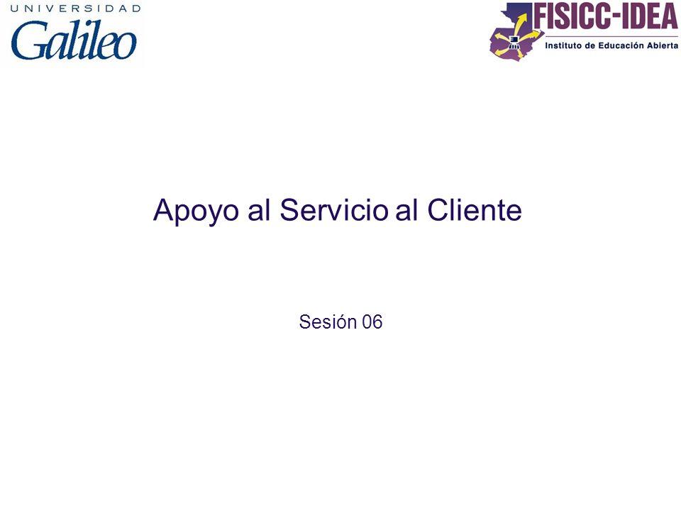 Apoyo al Servicio al Cliente