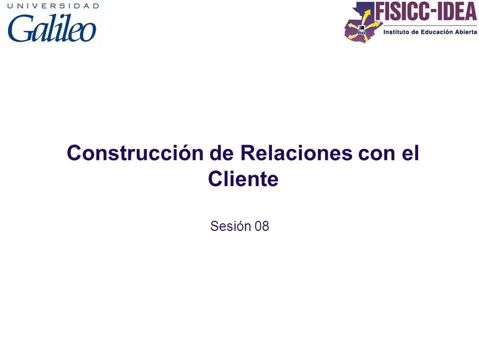 Construcción de Relaciones con el Cliente