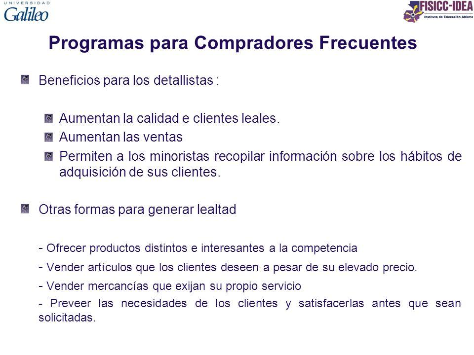 Programas para Compradores Frecuentes