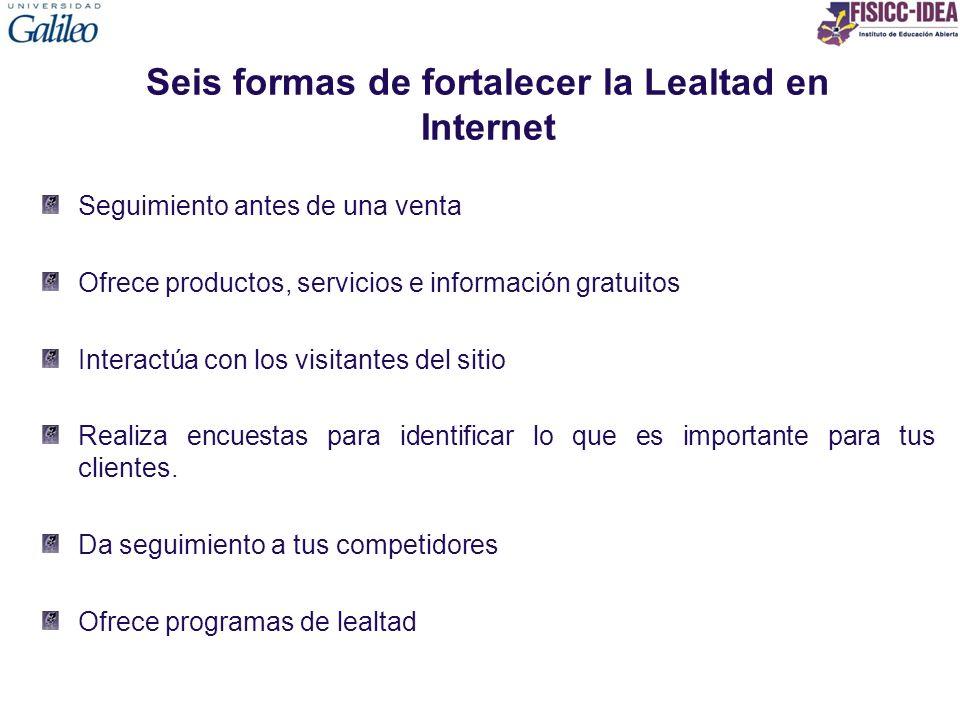 Seis formas de fortalecer la Lealtad en Internet