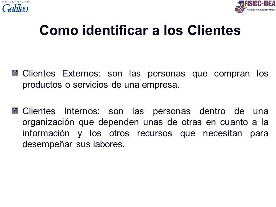 Como identificar a los Clientes
