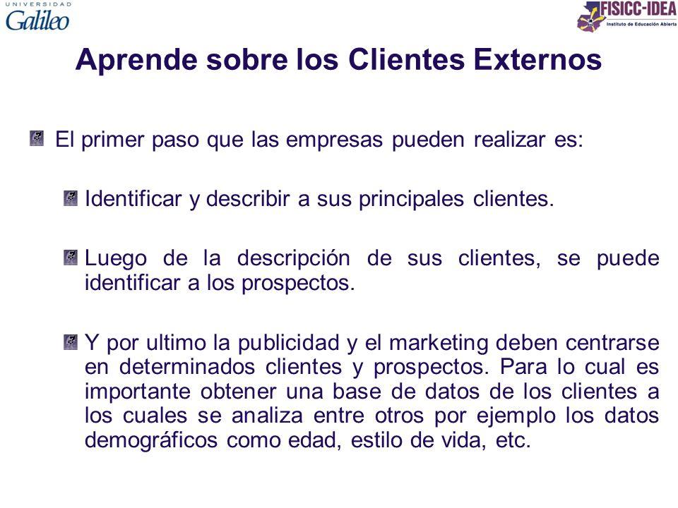 Aprende sobre los Clientes Externos