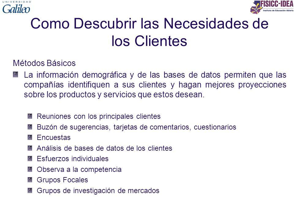 Como Descubrir las Necesidades de los Clientes