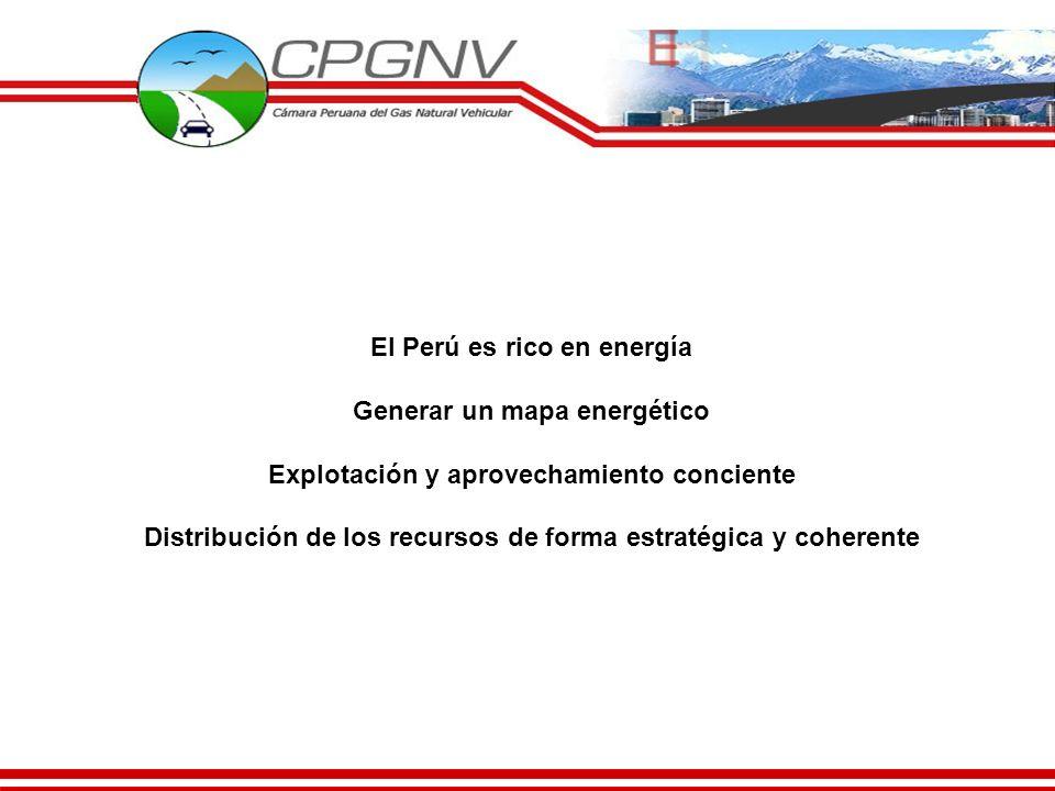 El Perú es rico en energía Generar un mapa energético