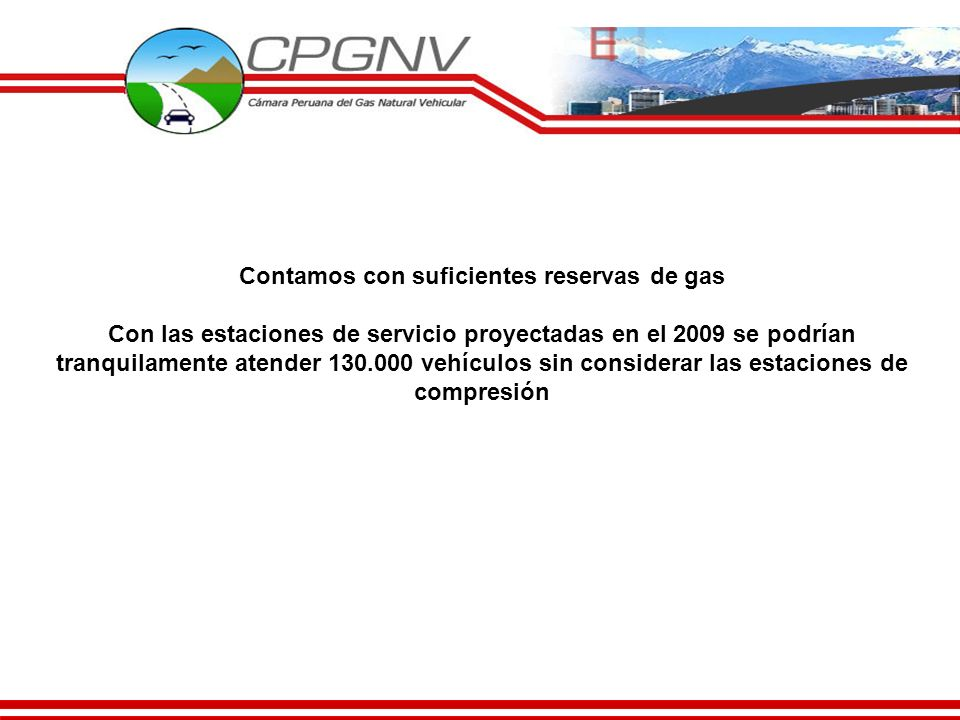 Contamos con suficientes reservas de gas