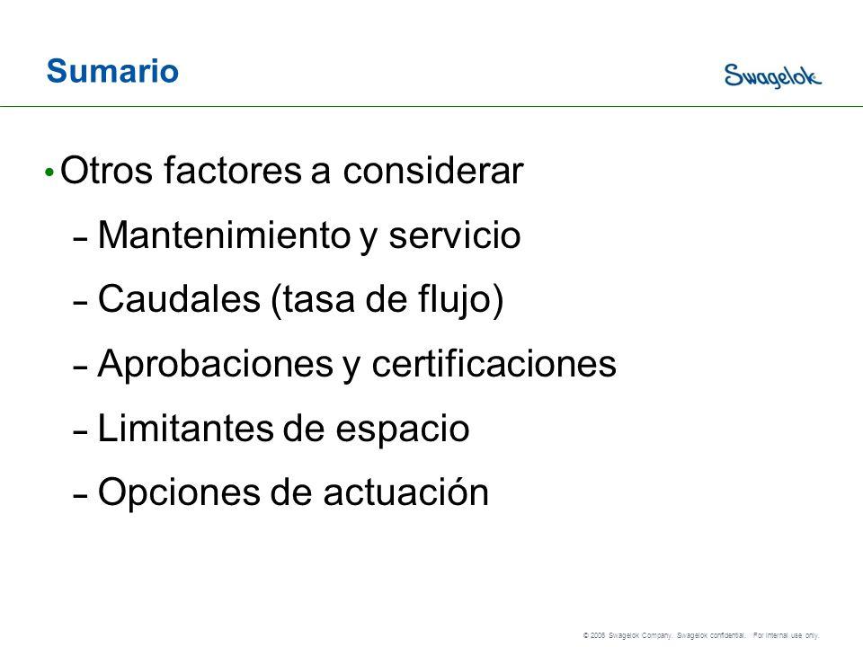 Otros factores a considerar Mantenimiento y servicio