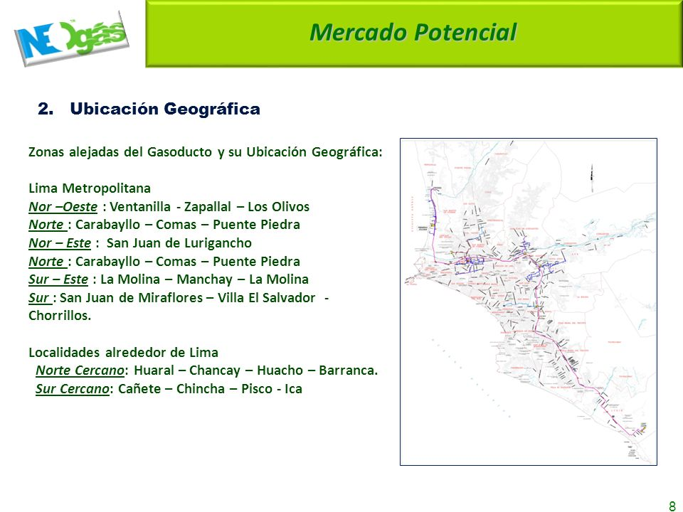 Mercado Potencial 2. Ubicación Geográfica