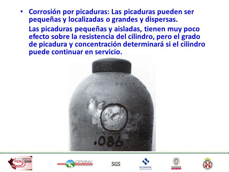 Corrosión por picaduras: Las picaduras pueden ser pequeñas y localizadas o grandes y dispersas.