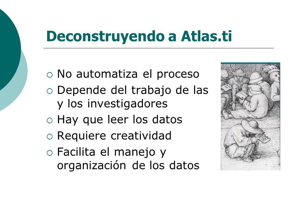 Deconstruyendo a Atlas.ti
