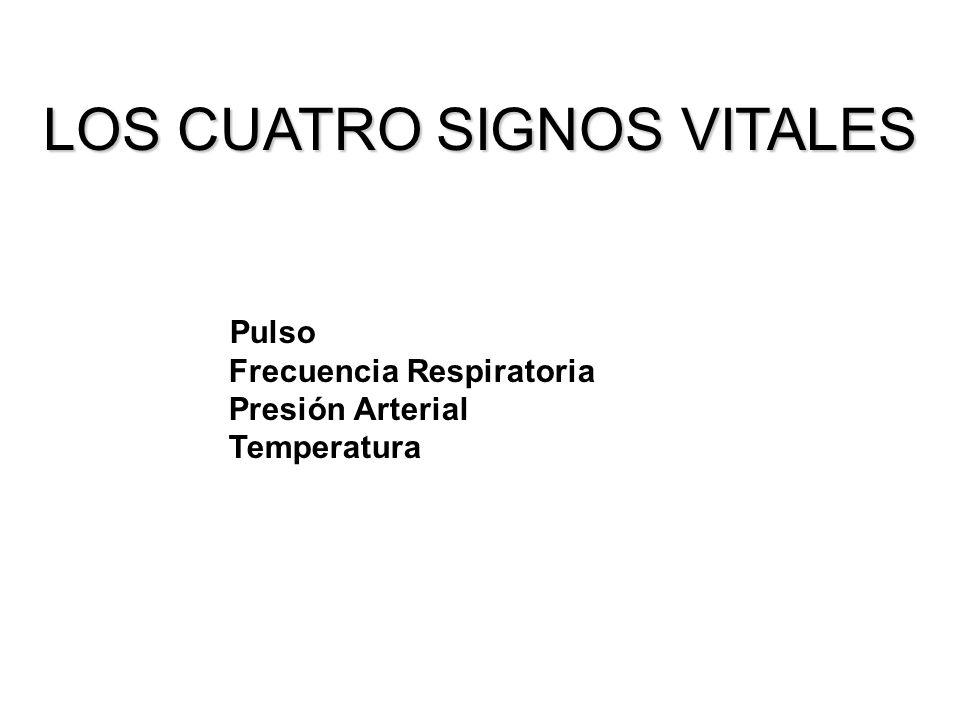 LOS CUATRO SIGNOS VITALES