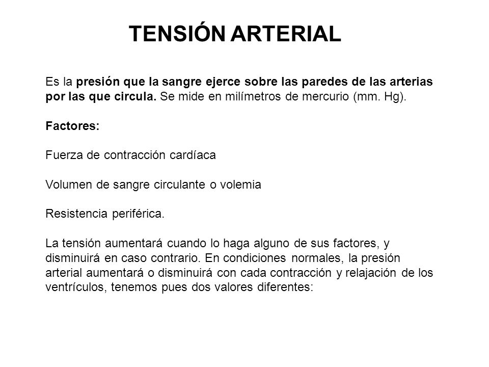 TENSIÓN ARTERIAL
