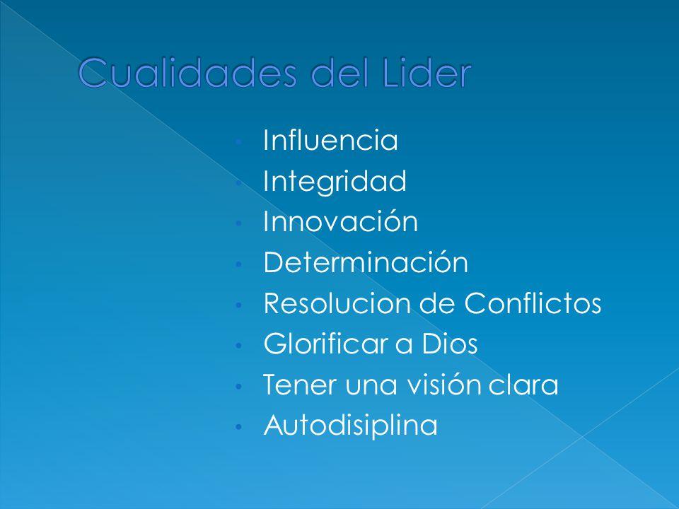 Cualidades del Lider Influencia Integridad Innovación Determinación