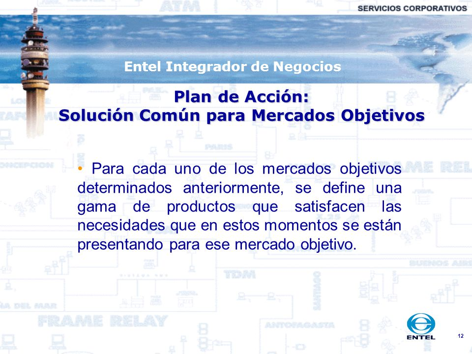Plan de Acción: Solución Común para Mercados Objetivos