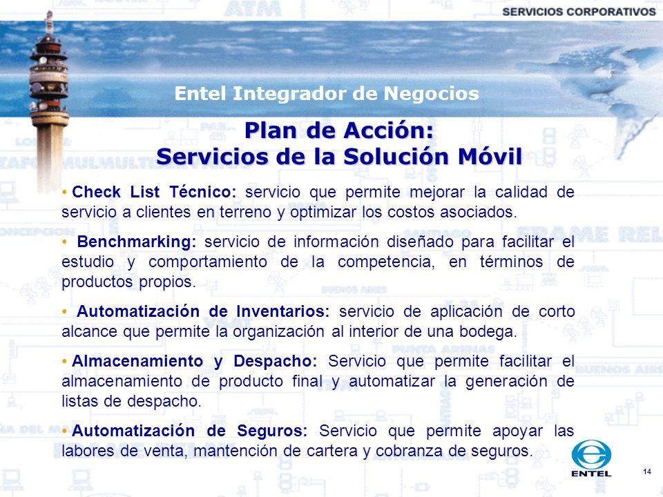 Plan de Acción: Servicios de la Solución Móvil