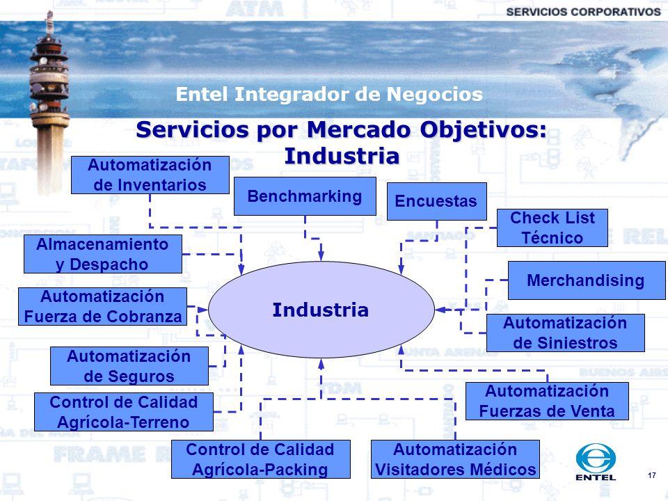 Servicios por Mercado Objetivos: Industria