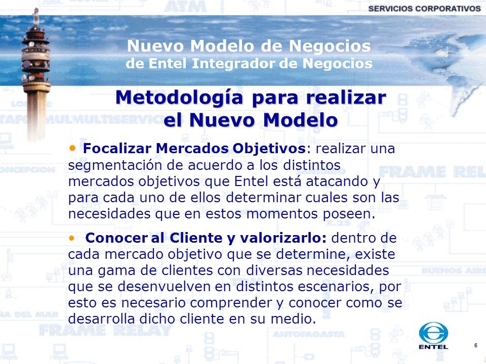 Metodología para realizar el Nuevo Modelo