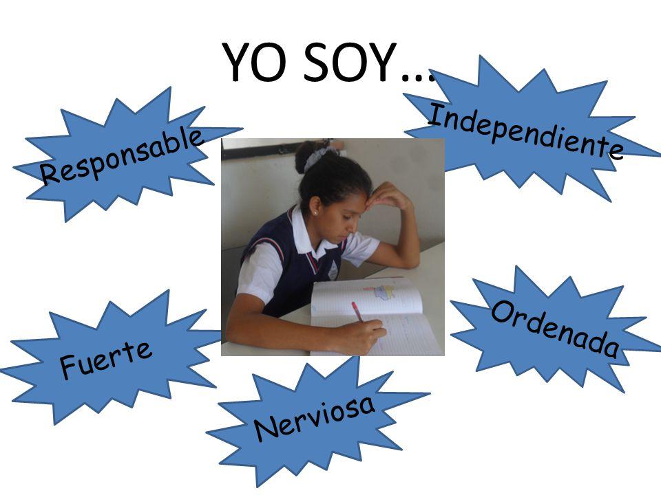 YO SOY… Independiente Responsable Ordenada Fuerte Nerviosa