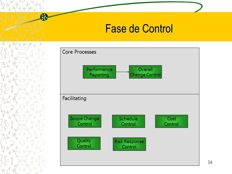 Fase de Control Core Processes Facilitating Performance Reporting