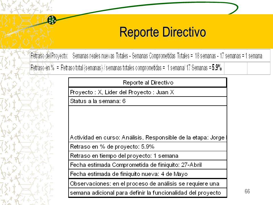 Reporte Directivo Certificación en Administración de Proyectos