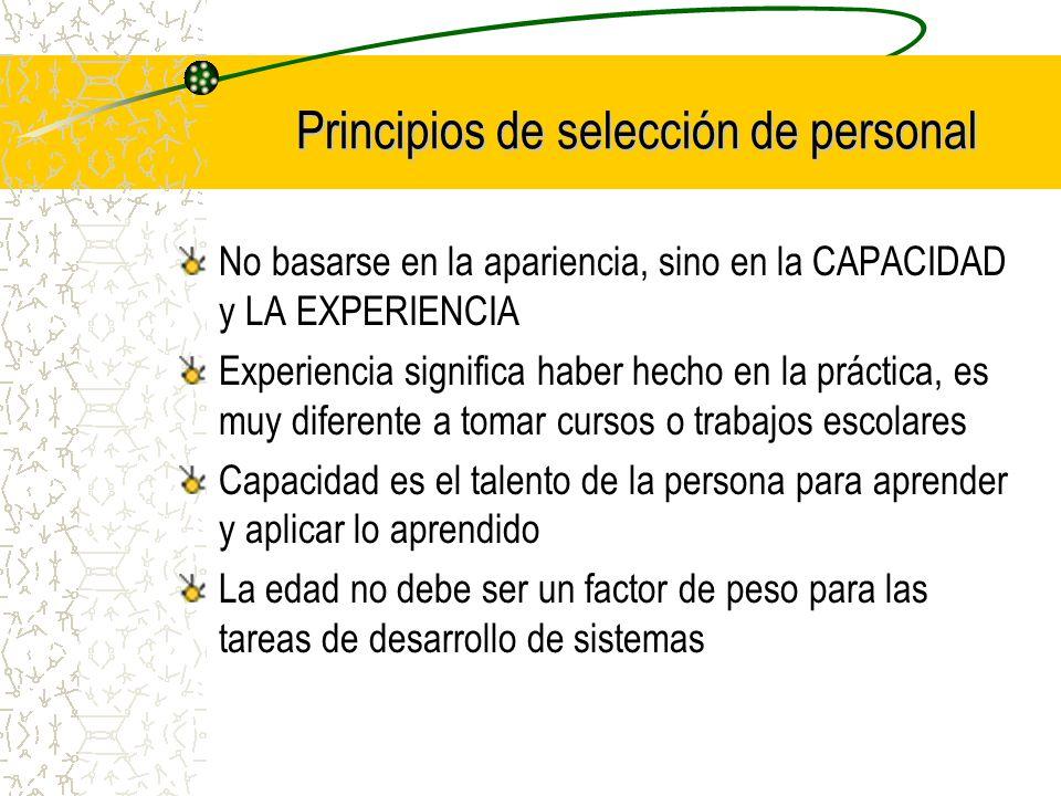 Principios de selección de personal